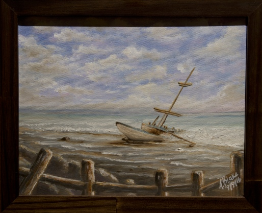 Adrian Blake-Shipwreck off the coast.jpg