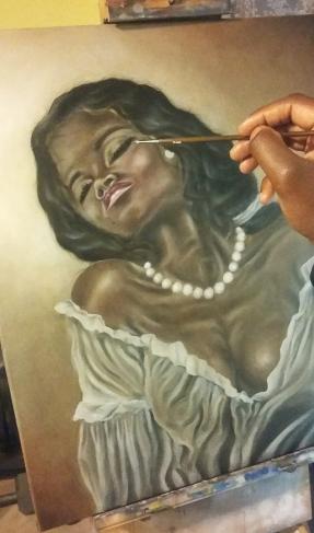 Adrian Blake painting